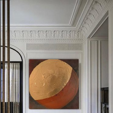 Pau Escat. The artist who integrates gold in his works.